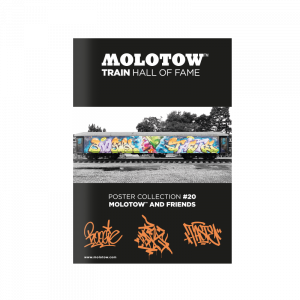 """MOLOTOW™ TRAIN HALL OF FAME Poster Collection #20 """"MOLOTOW™ AND FRIENDS"""""""