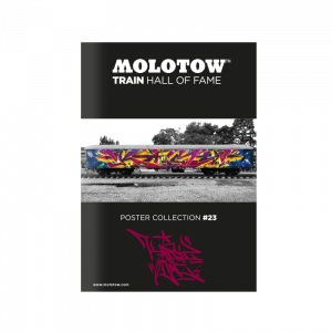 """MOLOTOW™ TRAIN HALL OF FAME Poster Collection #23 """"KAISY"""""""